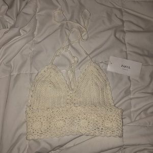 White crotchet top from zaful